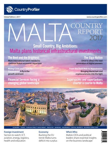 Malta country report 2017 by countryprofiler issuu countryprofiler global edition 2017 malvernweather Image collections