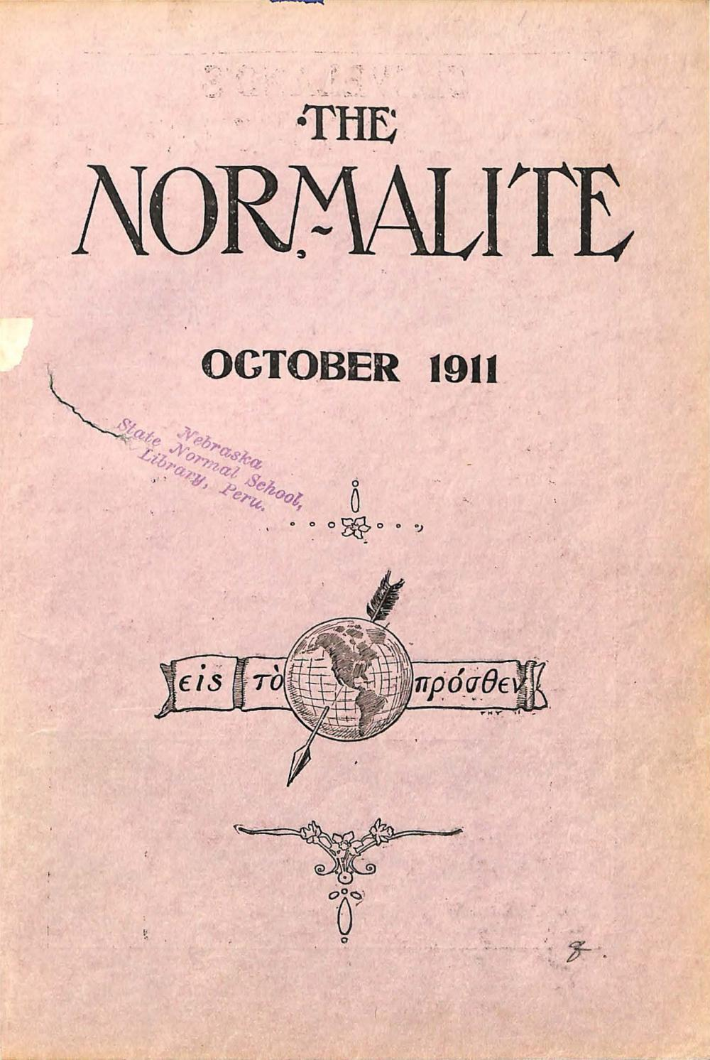 1911-1912 The Normalite - Issues 1-8 by Peru State College Library ...