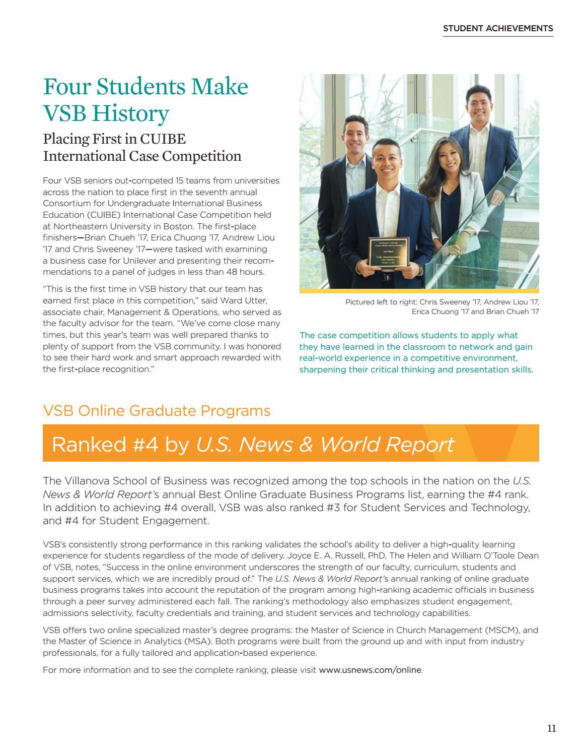 Summer 2017 Villanova Business Magazine by Villanova School