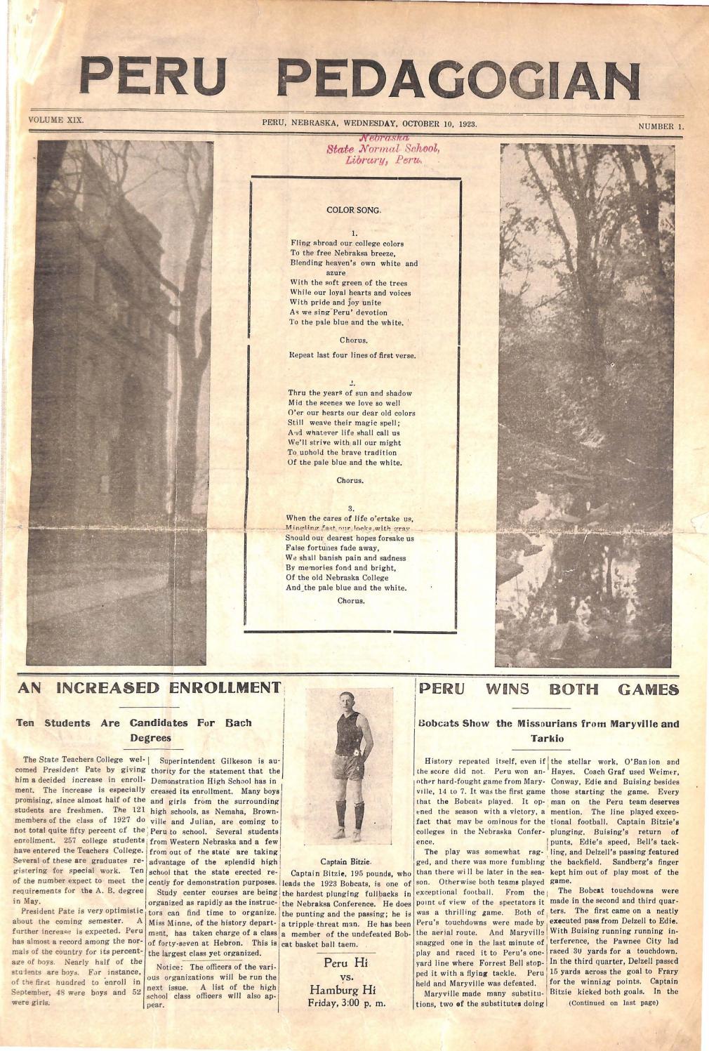 1923-1924 Peru Pedagogian - issues 1-18 by Peru State