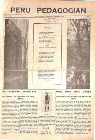 1923 1924 Peru Pedagogian Issues 1 18 By Peru State College