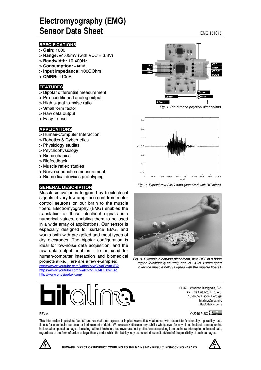 physiopluxcom Fig 1 Pin out and physical dimensions Fig 2 ...