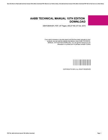 aabb technical manual 15th edition download by nicholaschipman1367 rh issuu com aabb technical manual 16th edition aabb technical manual 14th edition