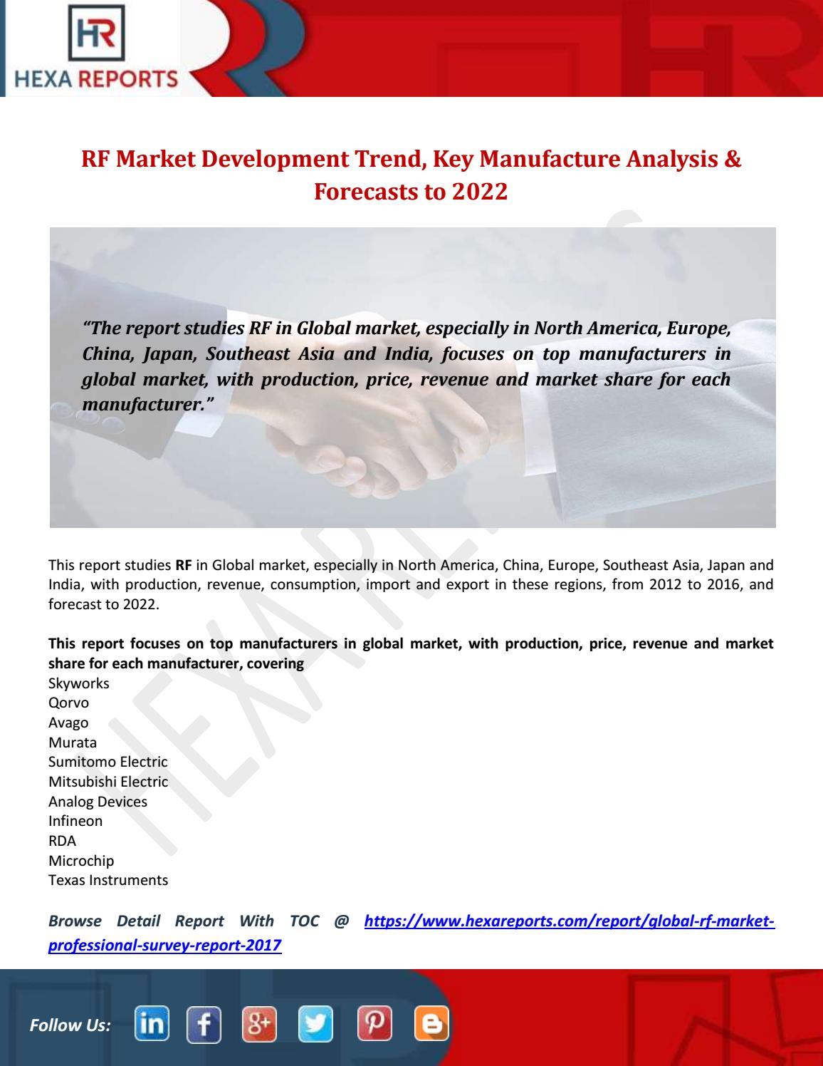 Rf market development trend, key manufacture analysis
