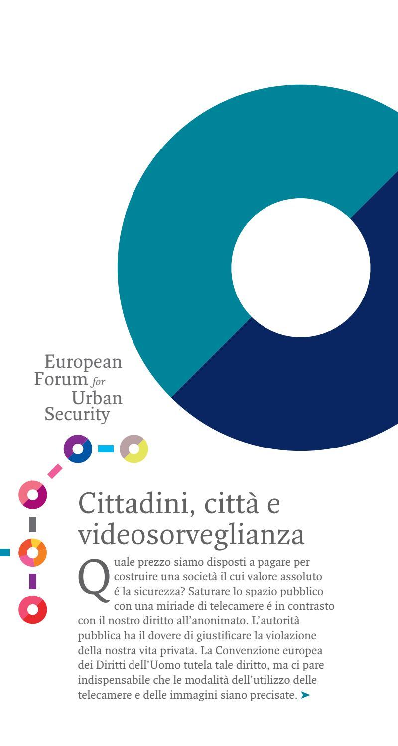 Cittadini Citta E Videosorveglianza By Efus Issuu