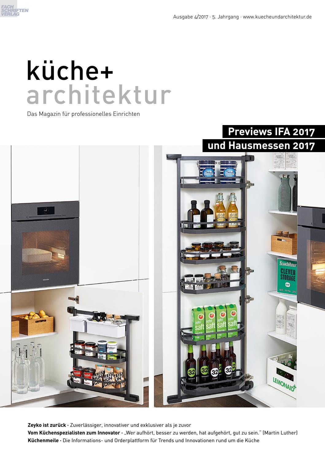 küche + architektur 4/2017 by Fachschriften Verlag - issuu