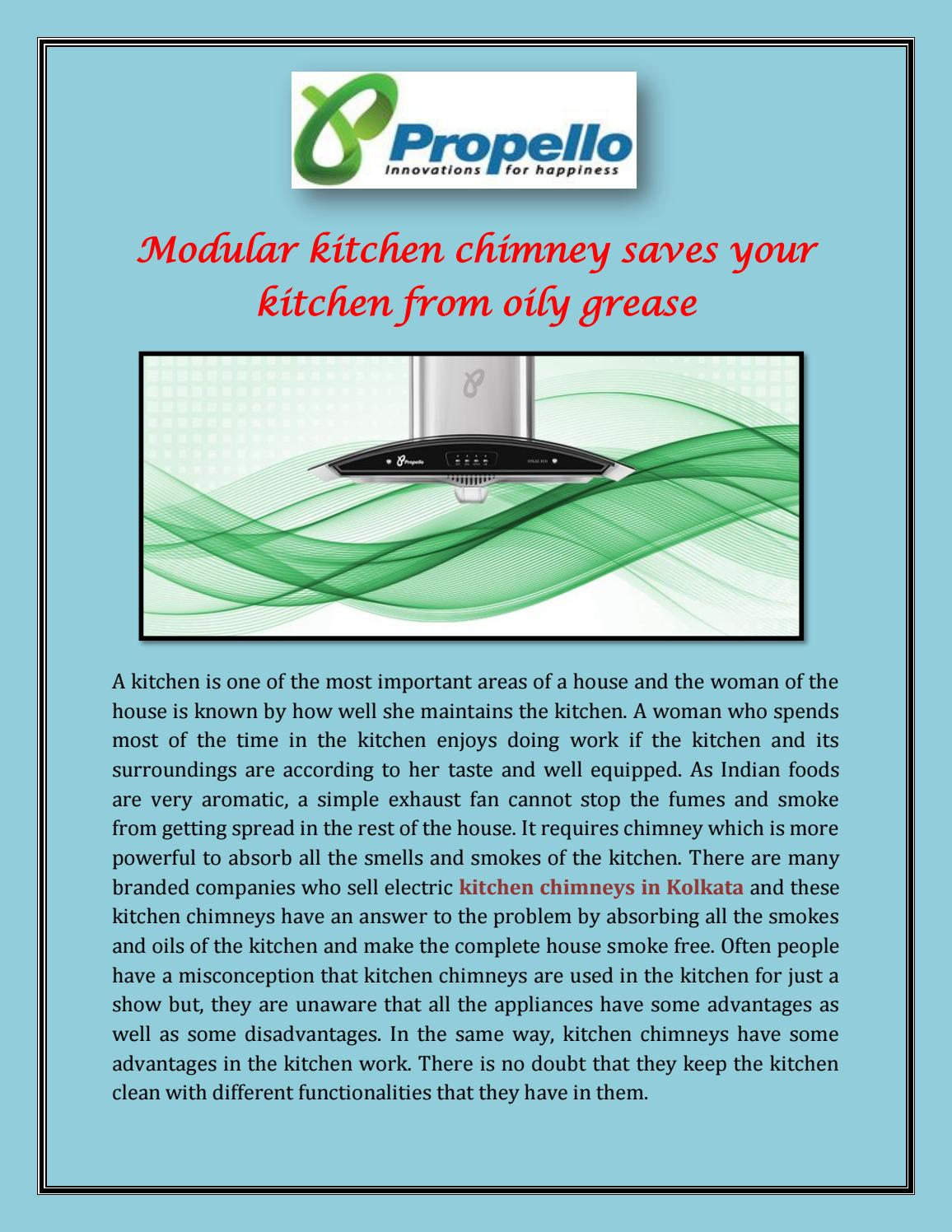Modular Kitchen Chimney Saves Your Kitchen from Oily Grease by ...