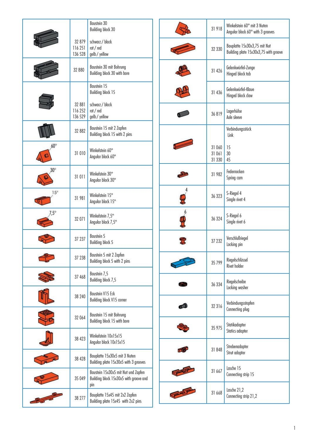 fischertechnik part list 2017 (individual ordering available) by ...