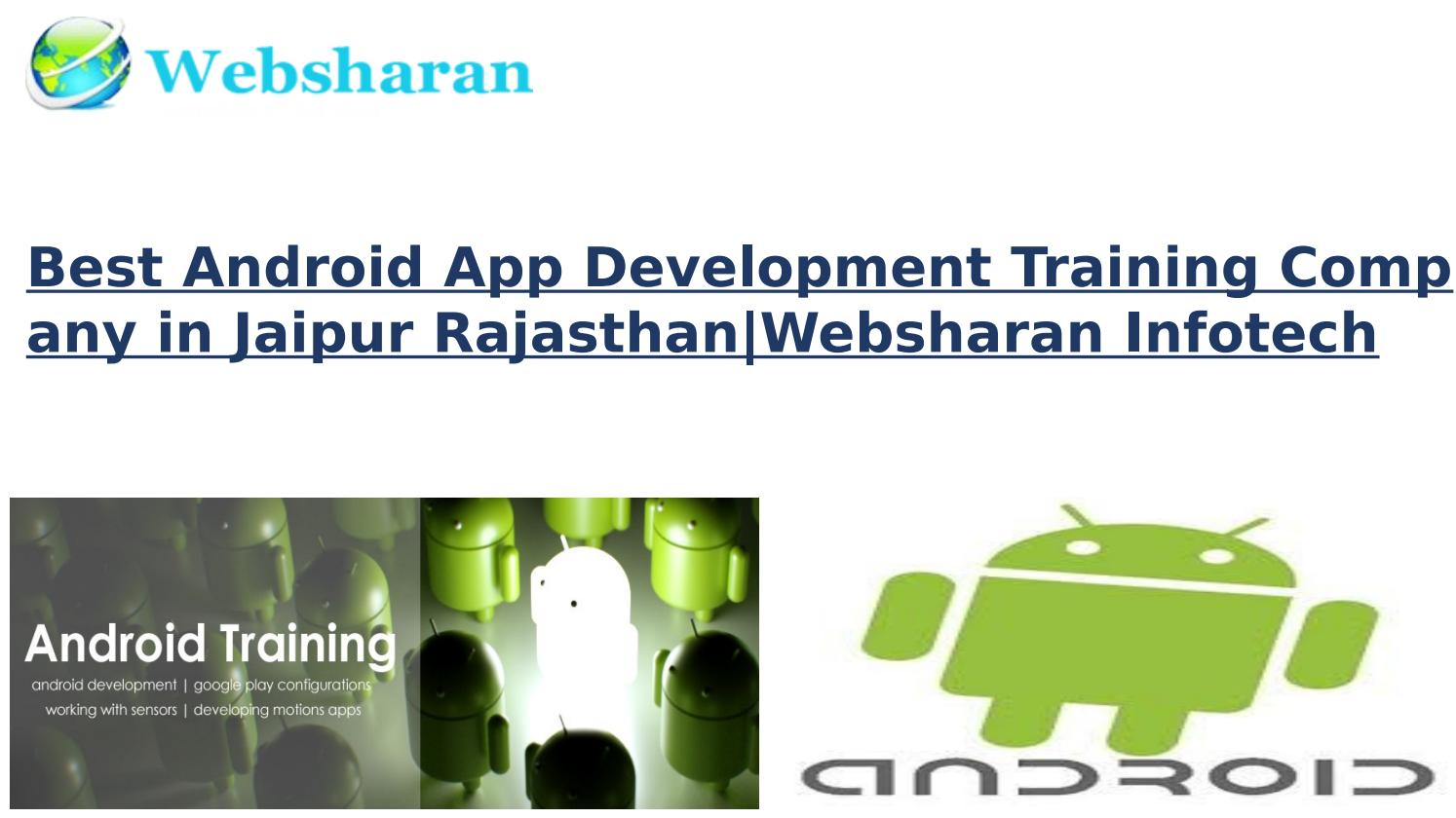 Best android app development training company in jaipur by