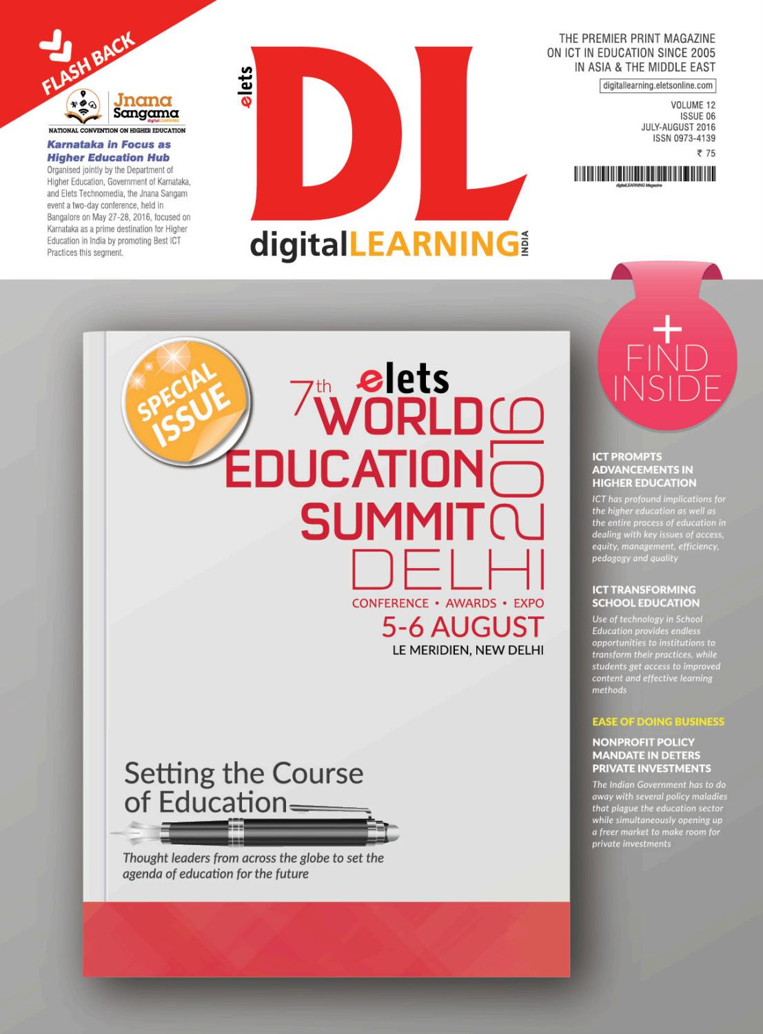 digital LEARNING Magazine July August Issue 2016 by digital