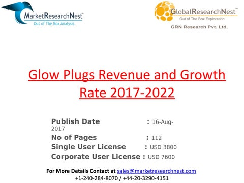 7801cf1a18c Glow plugs revenue and growth rate 2017 2022