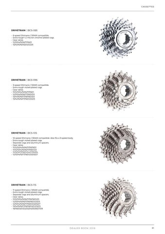 Cycling Drive Train Cassette Shimano Micron Chrome Plated Cogs 10 Speed 14-25 Bcs-10s