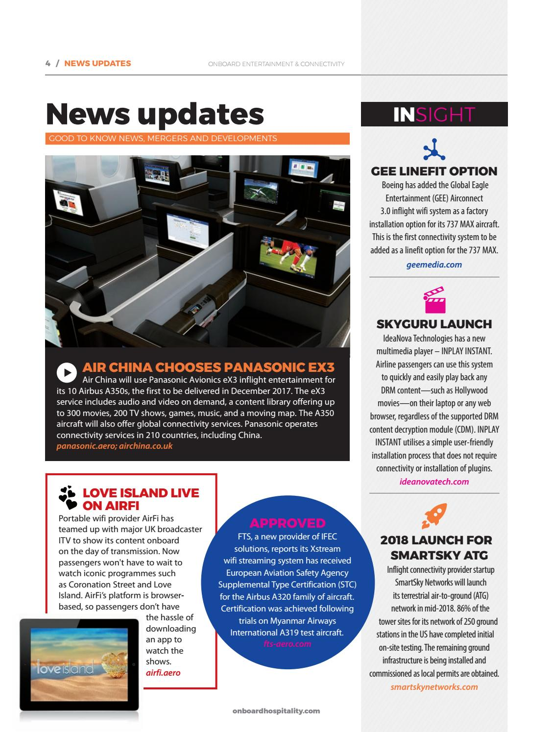 Onboard entertainment & connectivity September 2017 by BMI