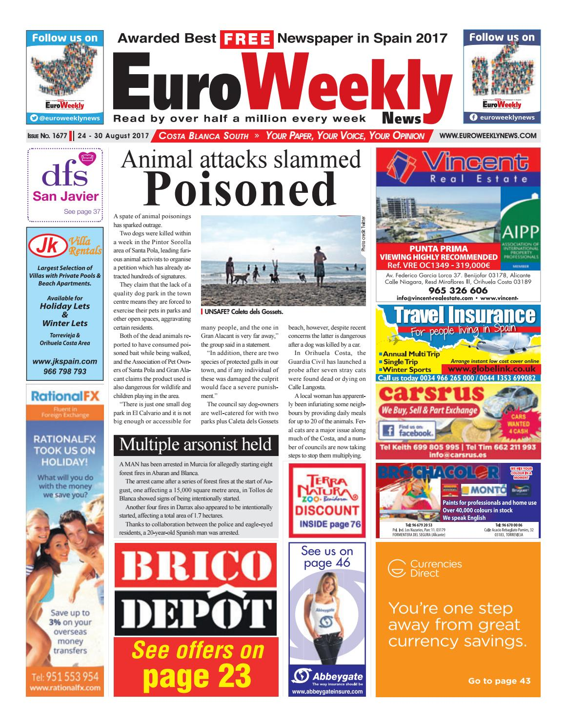 Euro Weekly News Costa Blanca South 24 30 August 2017