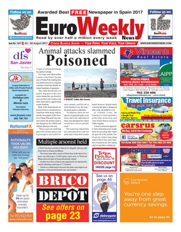 Euro Weekly News   Costa Blanca South 24 U2013 30 August 2017 Issue 1677 ...