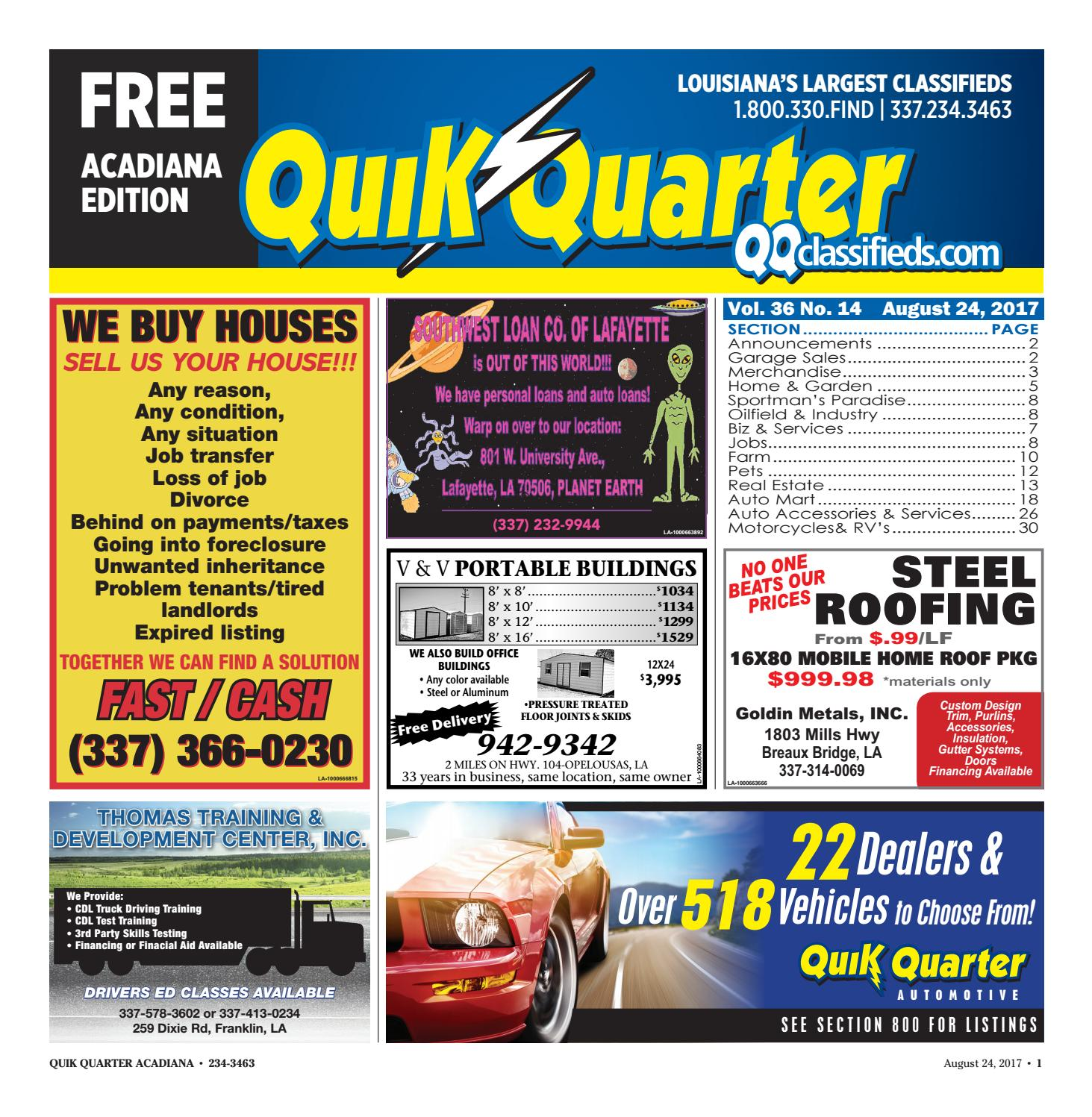 Qqacadiana 08242017 By Part Of The Usa Today Network Issuu P1361 2000 Honda Accord