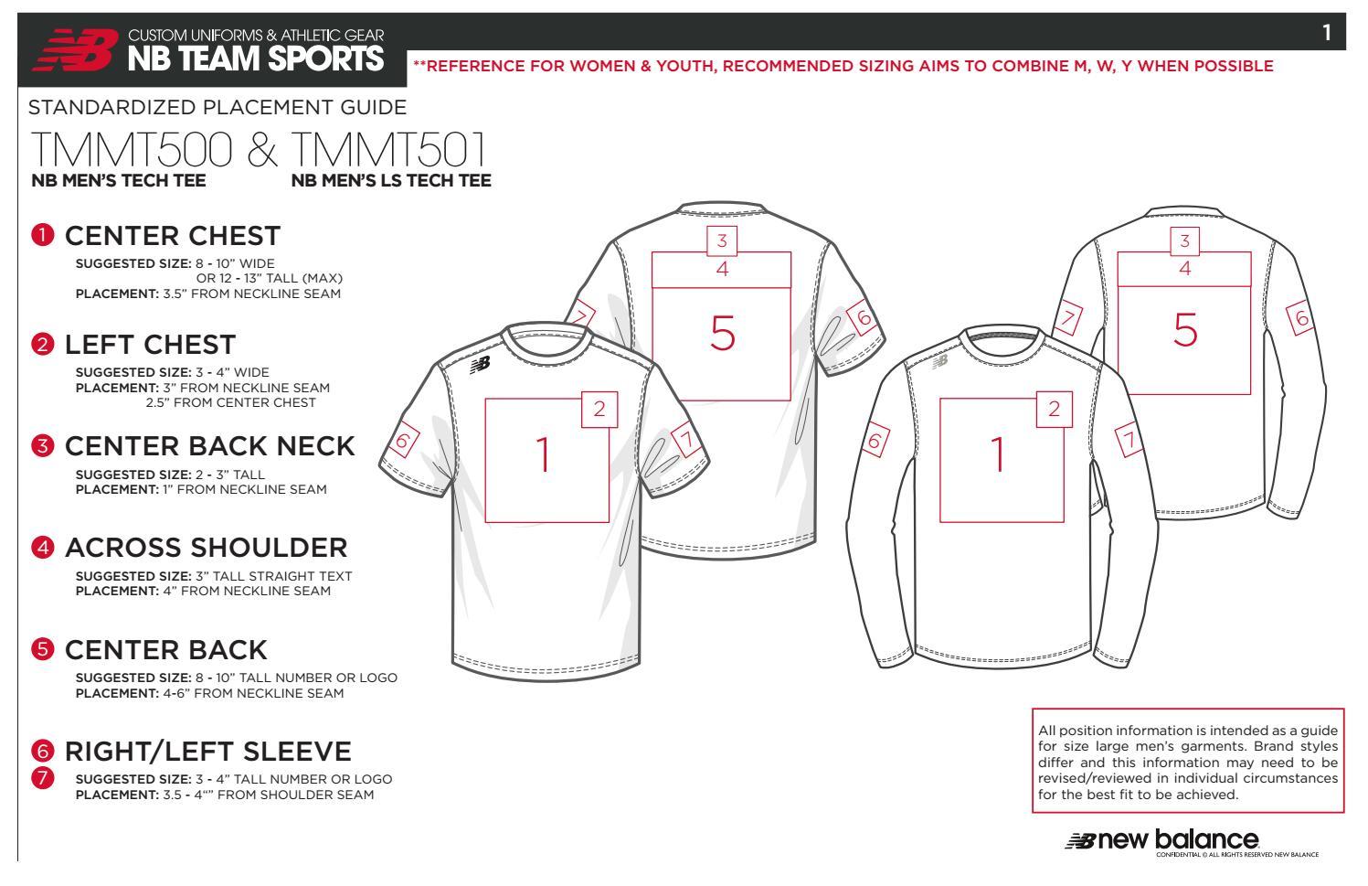Teamwear Standardized Placement Guide Final By Liz Bell