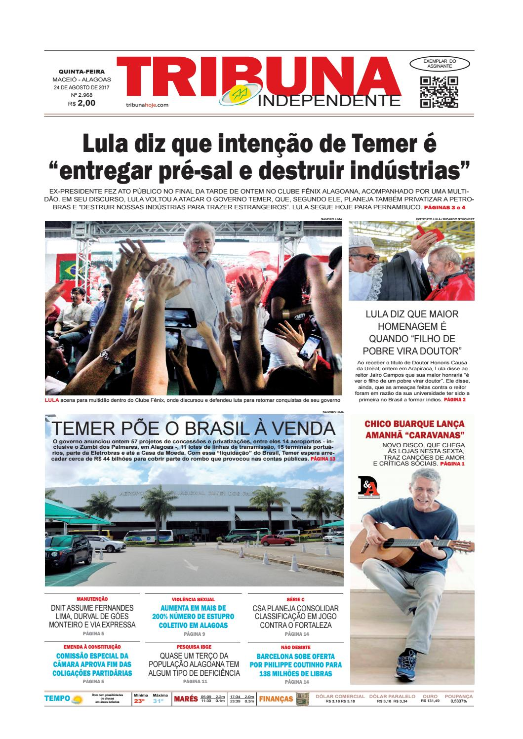 53a640dde17 Edição número 2968 - 24 de agosto de 2017 by Tribuna Hoje - issuu