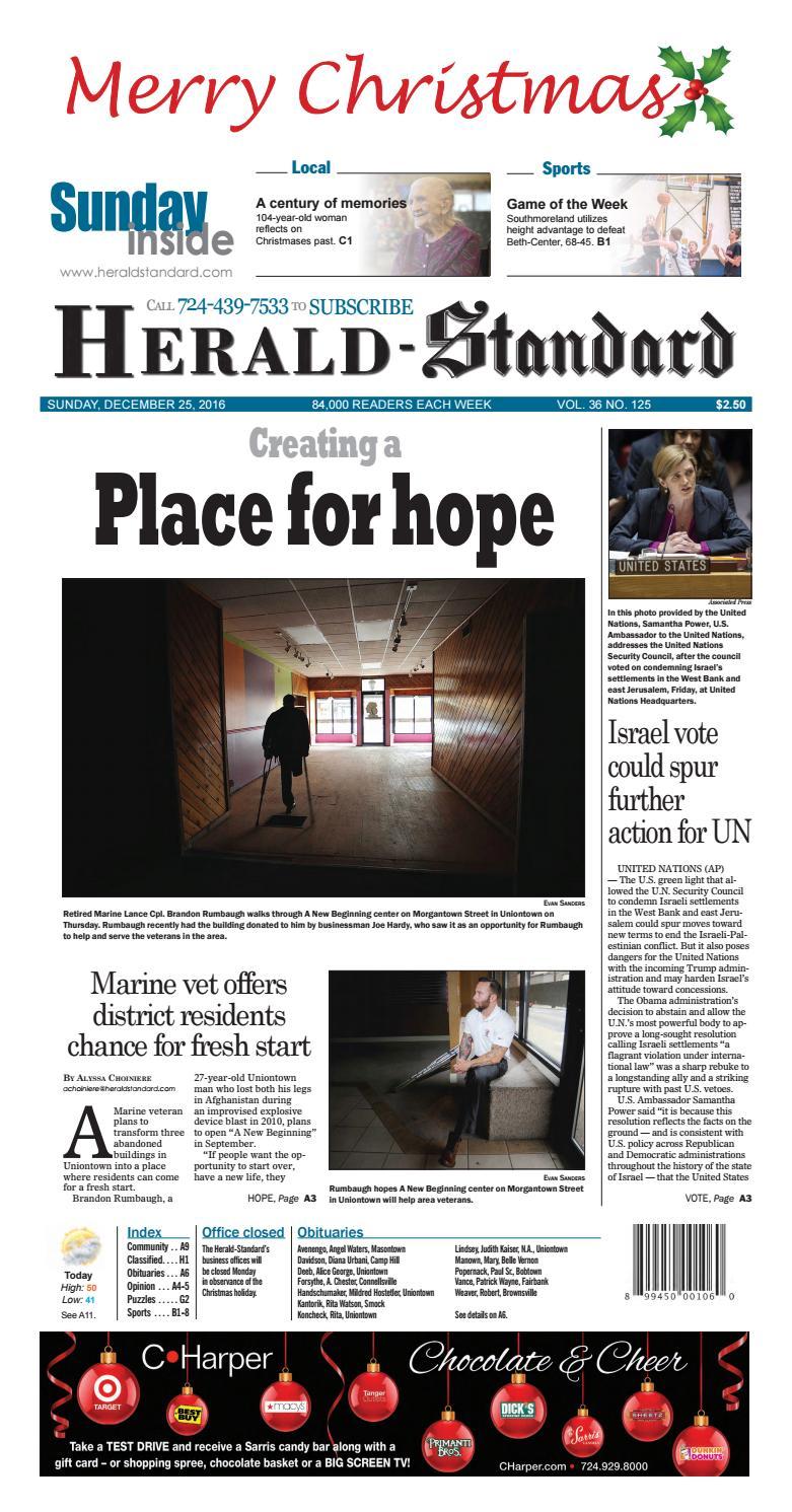 Herald-Standard 12 25 16 by Michael Palm - issuu
