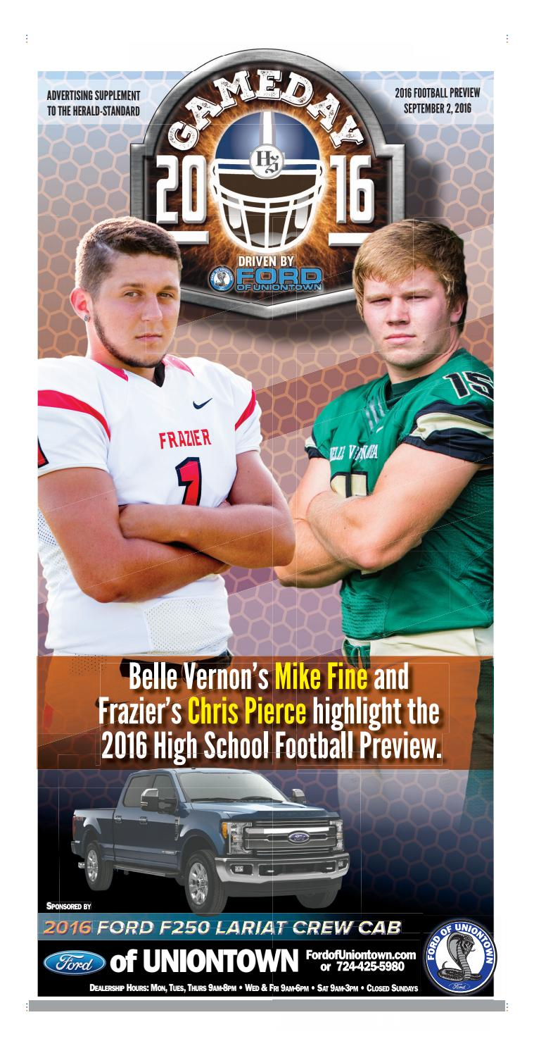 Ford Of Uniontown >> Herald-Standard Football preview 9 2 16 by Michael Palm - Issuu