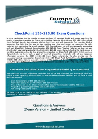 CheckPoint CCSA 156-215.80 Exam Question Answer by RobertHarris - issuu