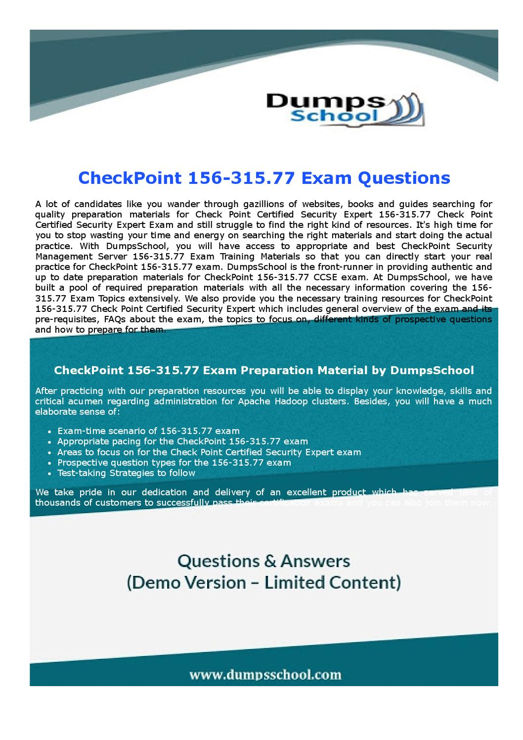 Checkpoint Ccse 156 31577 Exam Recommendations By Robertharris