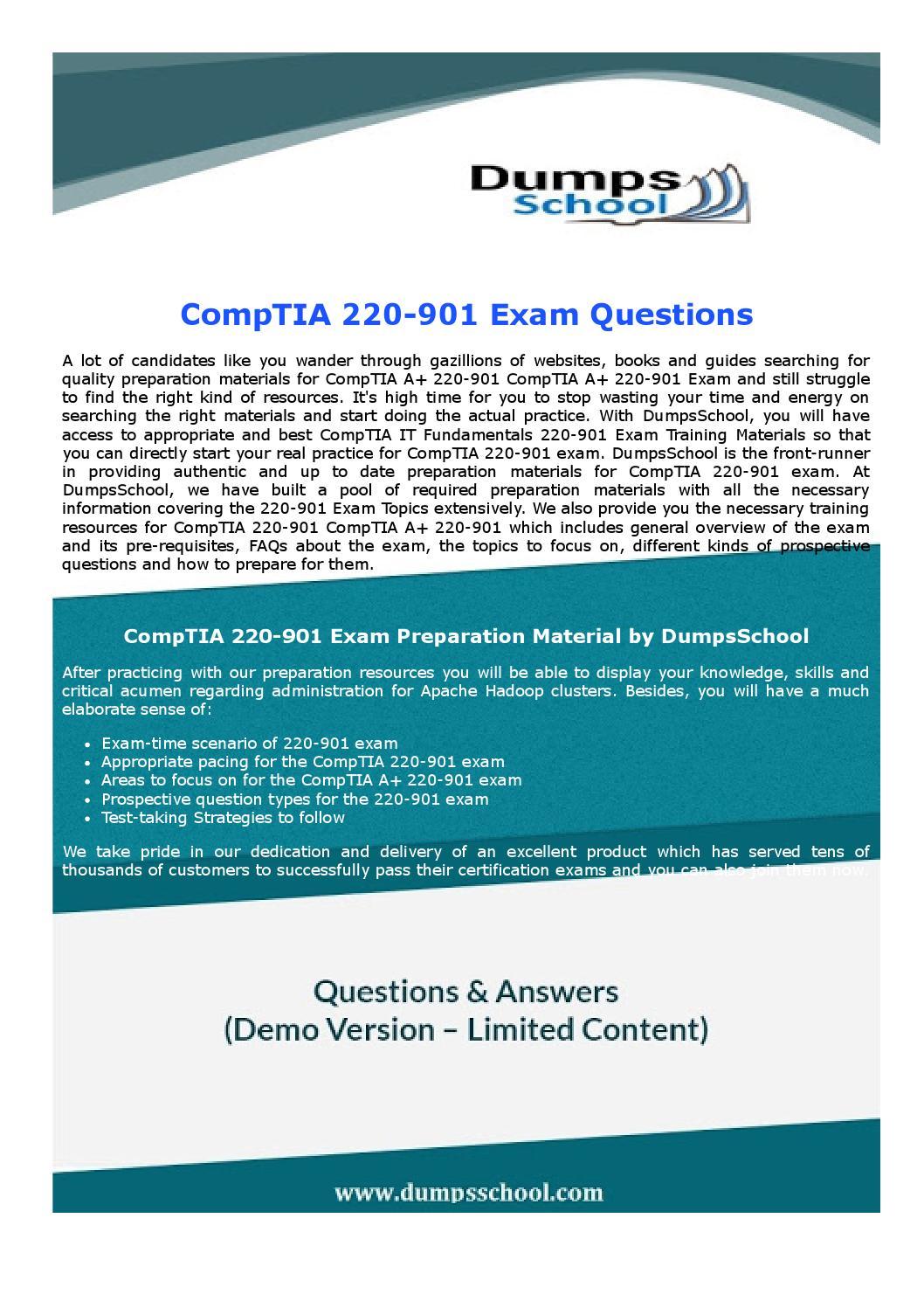 Comptia A 220 90 It Fundamentals Exam Dumps By Robertharris Issuu