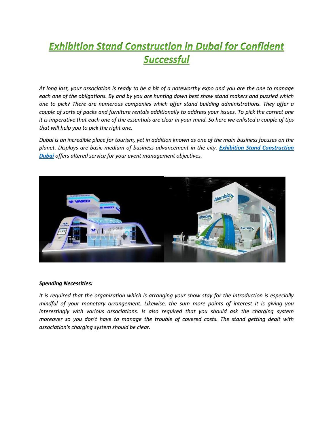 Exhibition stand construction in dubai for confident successful