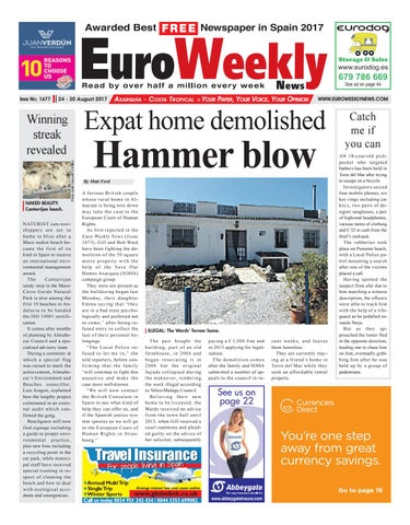 Euro Weekly News Axarquia 24 30 August 2017 Issue 1677