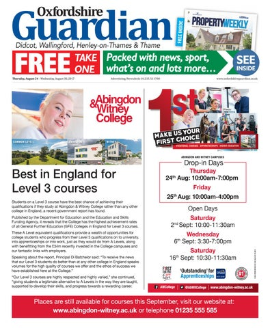 fb92aeab 24 august 2017 oxford guardian didcot by Taylor Newspapers - issuu