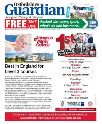 24 august 2017 oxfordshire guardian abingdon by Taylor Newspapers ... ee9fdf91d