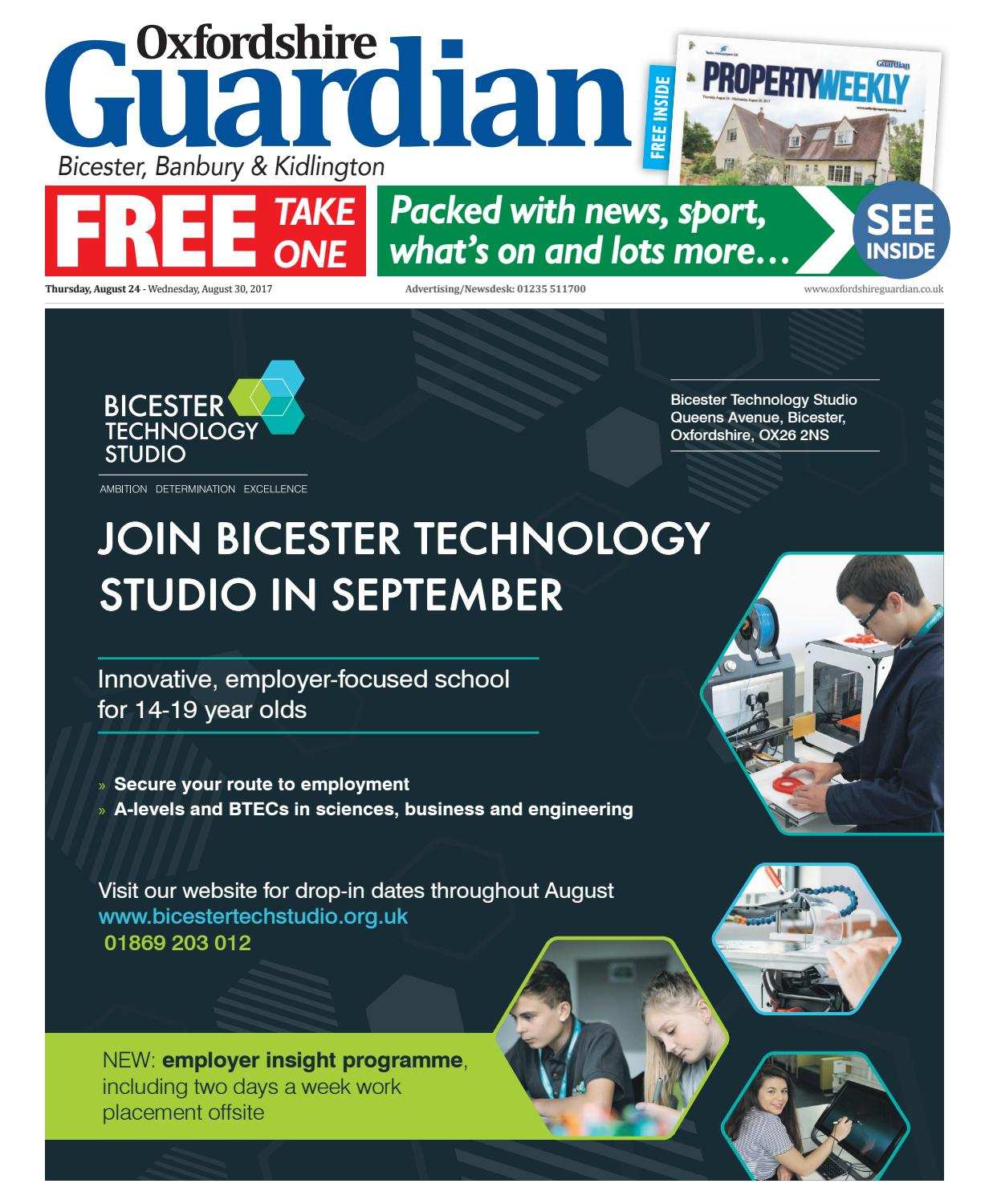 24 august 2017 oxfordshire guardian bicester by Taylor
