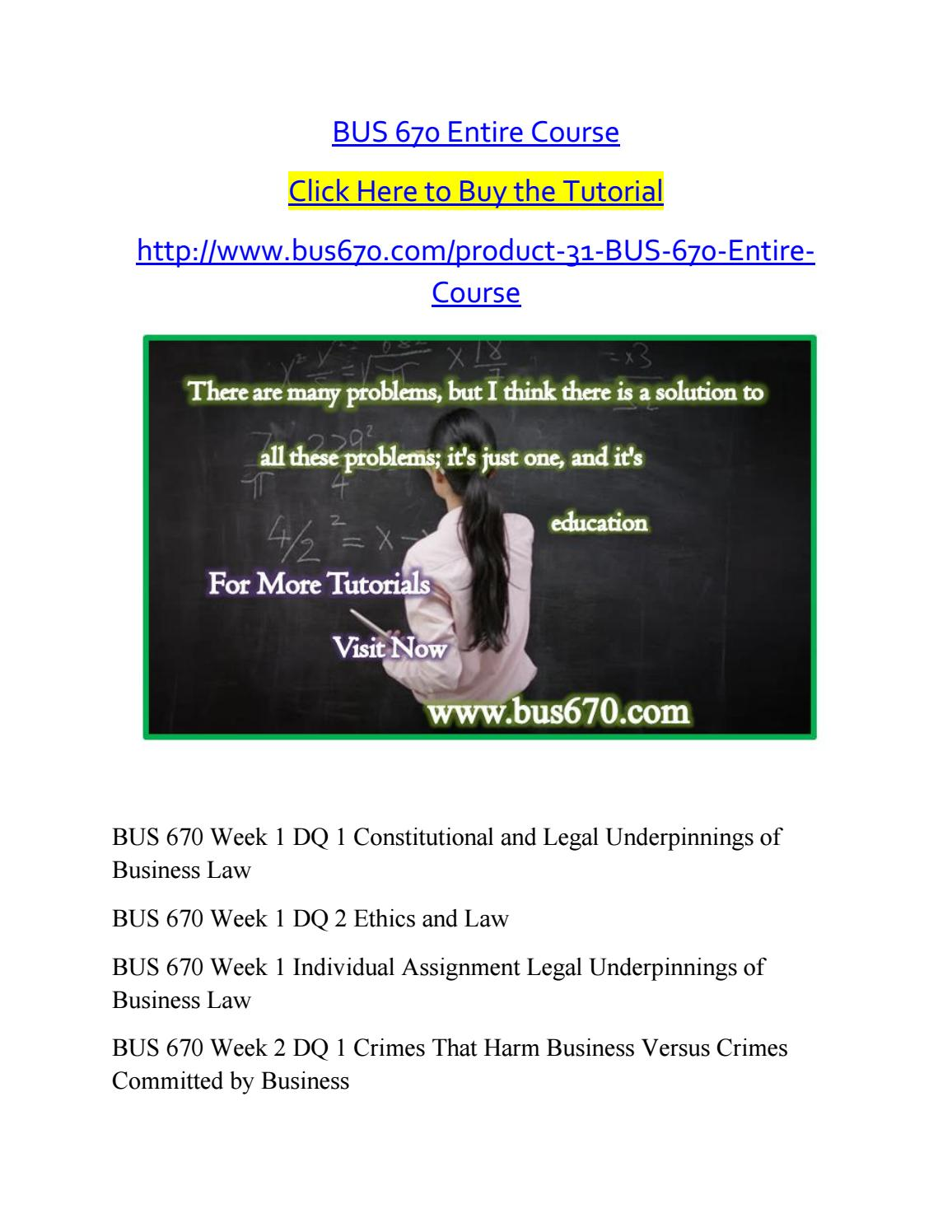bus670 week 1 assigment Busn 258 is a online tutorial store we provides busn 258 week 1 assignment.