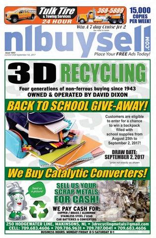 f480fc0f51ad11 1, 2017 Issue 1053 Copyright© 2017 The Newfoundland Buy & Sell Magazine  Inc.