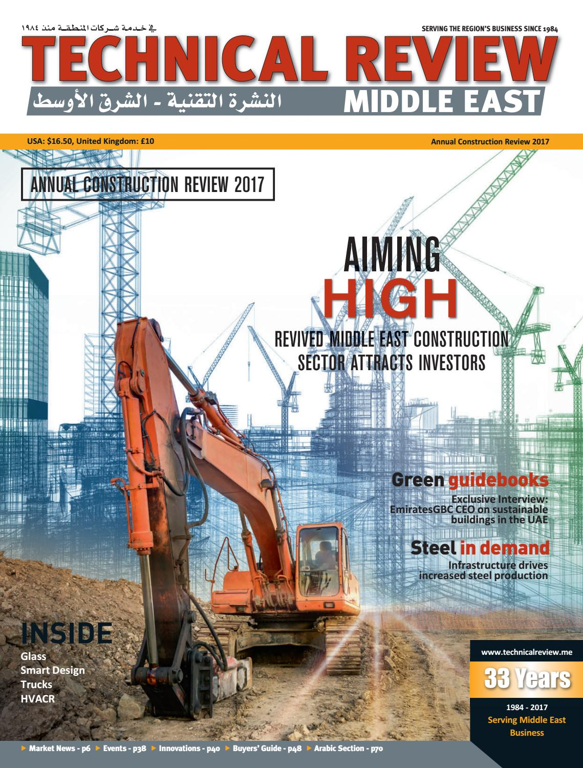 Techincal Review Middle East construction 2017 by Alain Charles