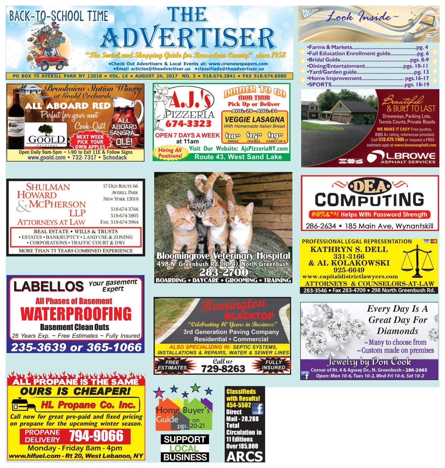 Advertiser South 082417 by Capital Region Weekly Newspapers - issuu