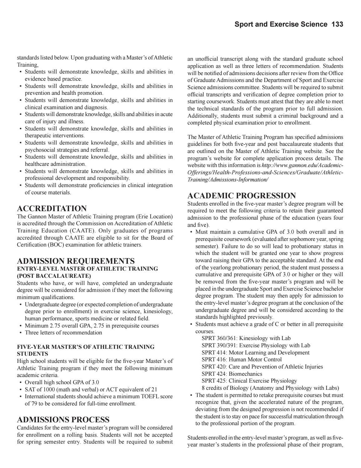 Gannon University Graduate Catalog 2017 2018 By Gannon University