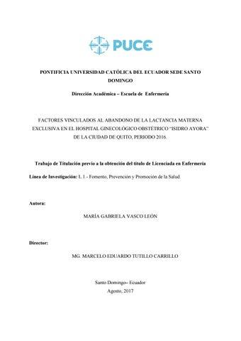 679e68228 PONTIFICIA UNIVERSIDAD CATÓLICA DEL ECUADOR SEDE SANTO DOMINGO Dirección  Académica – Escuela de Enfermería