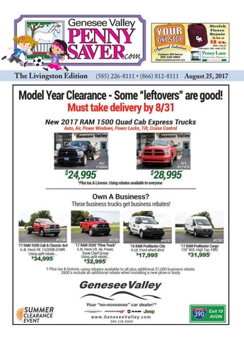 f997db437 The Genesee Valley Penny Saver Livingston Edition 8/25/17 by Genesee ...