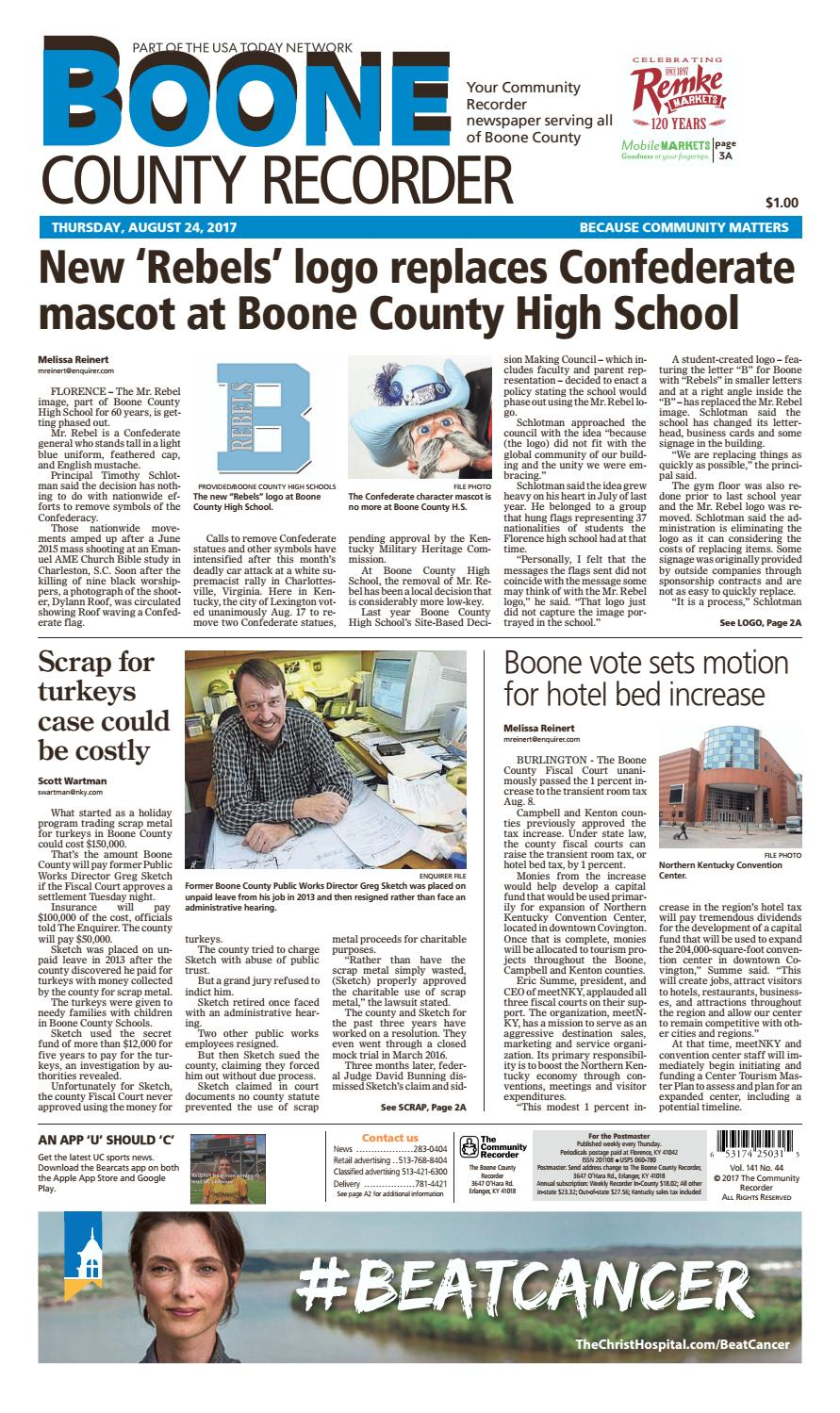 Boone County Recorder 082417 By Enquirer Media Issuu Kal Bone Defense 90s