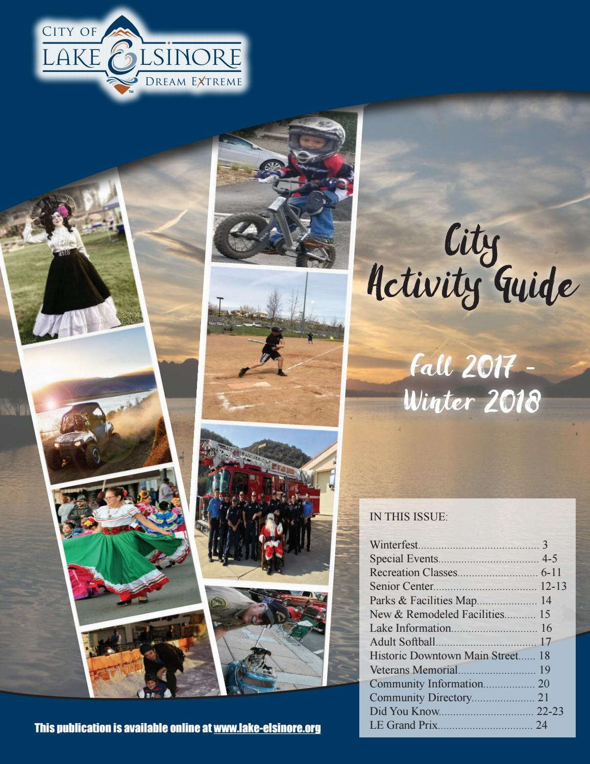 Fall 2017 and Winter 2018 City Activity Guide by City of Lake