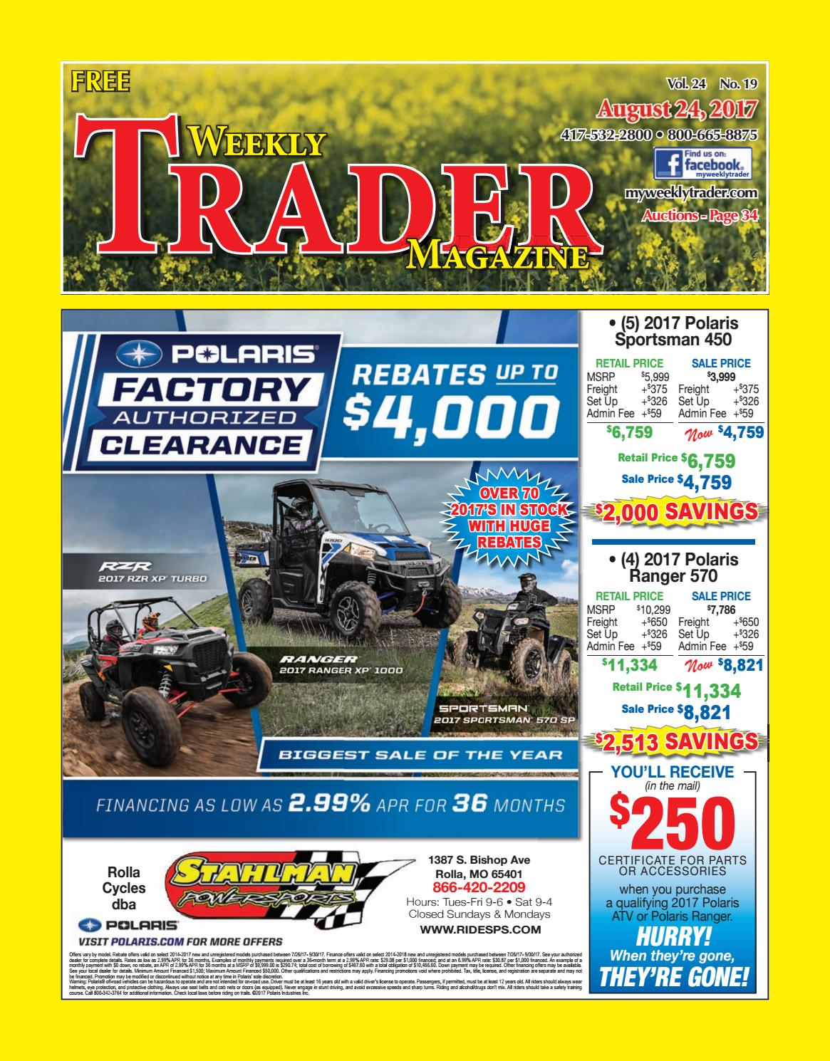 Weekly Trader August 24, 2017 by Weekly Trader - issuu