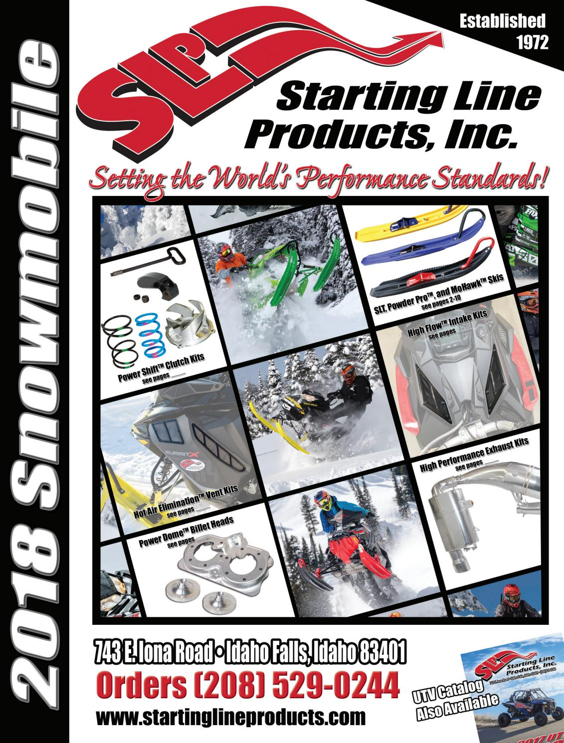2018 Starting Line Products Slp Snowmobile Catalog By Starting
