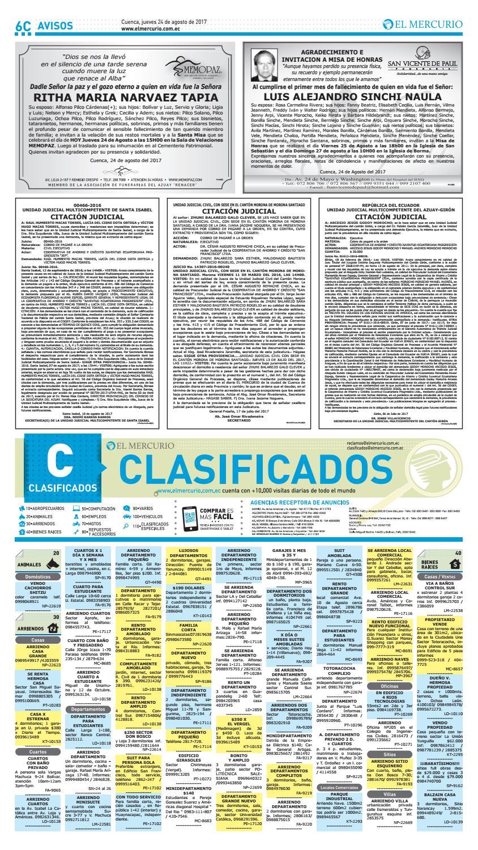 Hemeroteca 24 08 2017 By Diario El Mercurio Cuenca Issuu