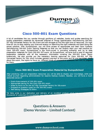 500-801 Cisco Exam Dumps by StevenJenkins - issuu