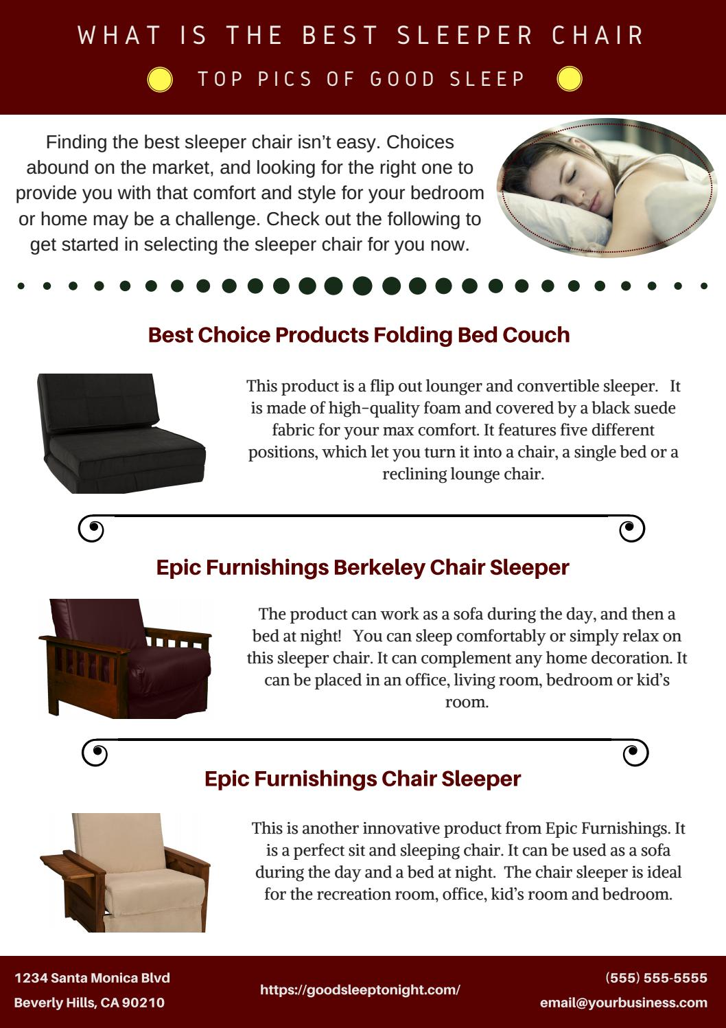 Strange What Is The Best Sleeper Chair Top Pics Of Good Sleep By Short Links Chair Design For Home Short Linksinfo