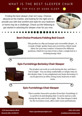 Surprising What Is The Best Sleeper Chair Top Pics Of Good Sleep By Short Links Chair Design For Home Short Linksinfo