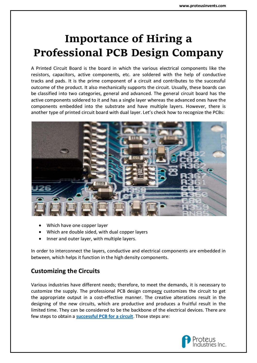 Importance of Hiring a PCB Layout Design Specialists