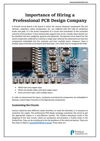 Importance of Hiring a PCB Layout Design Specialists by