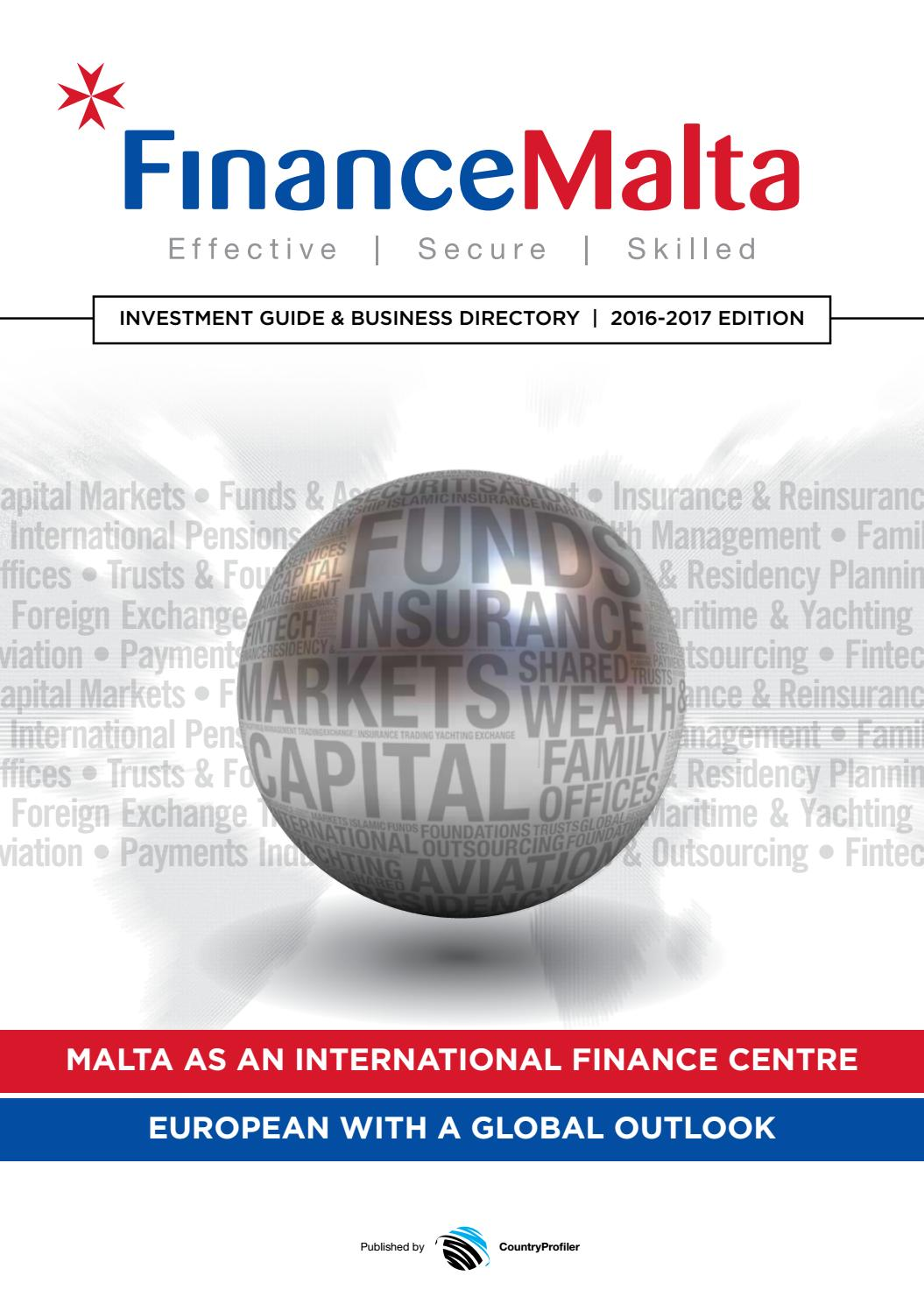 FinanceMalta Investment Guide and Business Directory 2016 by